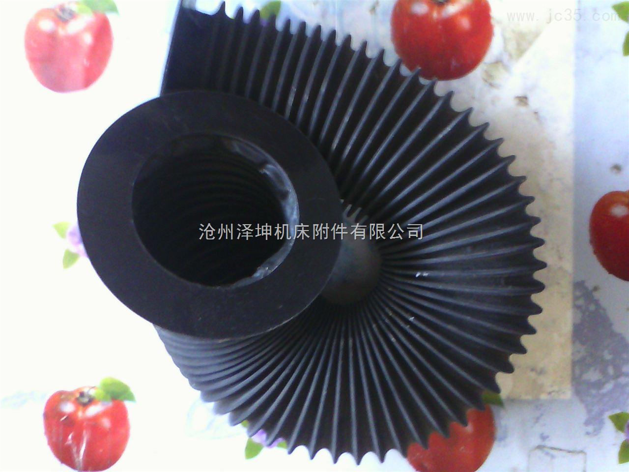 黑色圆筒式伸缩防护罩