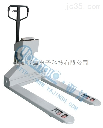 天津搬运叉车地磅物流物品测量2吨叉车秤