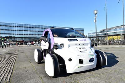 英国无人驾驶豆荚车试运行:小巧实用外表吸睛