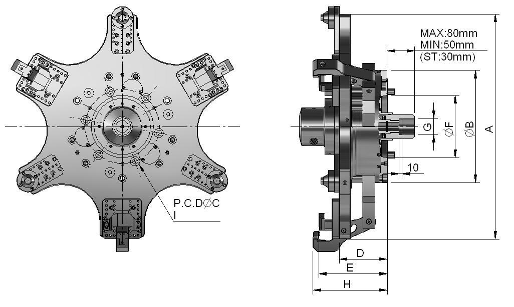 气动分度盘结构图解