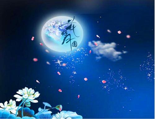 月亮桂花卡通图片